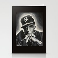 jay z Stationery Cards featuring Jay-Z by Sarah Painter