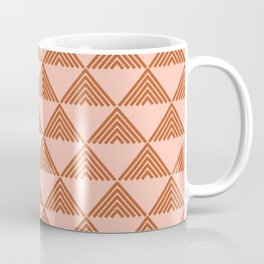 Triangular Lines in Terracotta and Blush Coffee Mug
