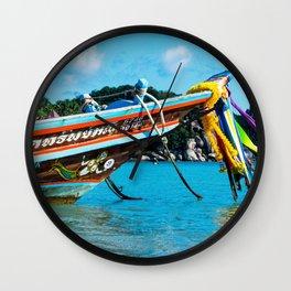 Long-Tail Koh Tao, Thailand Wall Clock