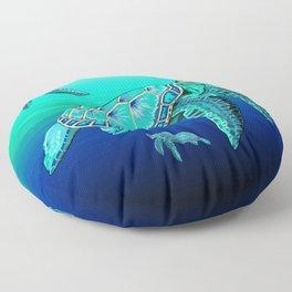 Sea Turtle Turquoise Oceanlife Floor Pillow