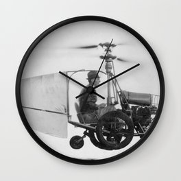 Gyrocopter Wall Clock