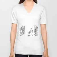 engineer V-neck T-shirts featuring administrator server engineer system by Lineamentum