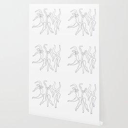 Picasso Line Art - Dancers Wallpaper