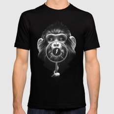 On Air Black SMALL Mens Fitted Tee