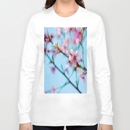 Pink on Blue Long Sleeve T-shirt