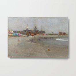 Narragansett Beach, Narragansett, Rhode Island Landscape by Hugo August Bernhard Breul Metal Print