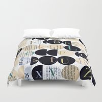 alphabet Duvet Covers featuring Alphabet by maria carluccio
