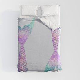 mermaid tail (purple & green) Duvet Cover