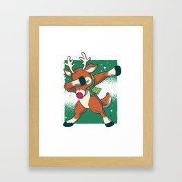 Reindeer Dab Framed Art Print