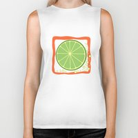 lime Biker Tanks featuring LIME by Tanya Pligina