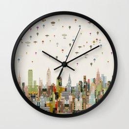 the great wondrous balloon race Wall Clock