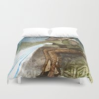 "dragon age Duvet Covers featuring Dragon Age Inquisition - Cole - Charity by Barbara ""Yuhime"" Wyrowińska"