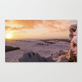 Hathersage Moor Sunrise Canvas Print