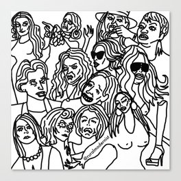 Real Housewives pt.1 Canvas Print