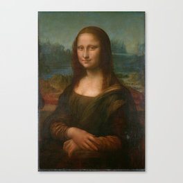 Mona Lisa Classic Leonardo Da Vinci Painting Canvas Print
