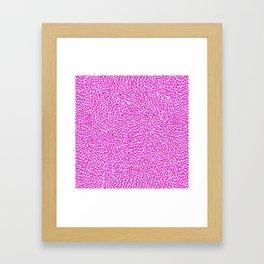 Light Pink Glitter Cheetah Print Framed Art Print