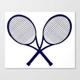 Crossed Rackets Silhouette Canvas Print