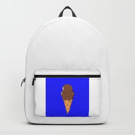 A Chocolate Ice Cream Cone with Blue Background, Summer Fun Backpack