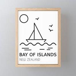 Bay of Islands New Zealand Framed Mini Art Print
