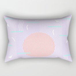 Memphis Summer Lavender Waves Rectangular Pillow