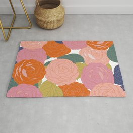 Flowers In Full Bloom Rug