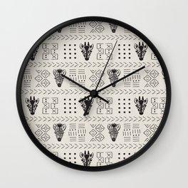 Safari Mud Cloth Wall Clock