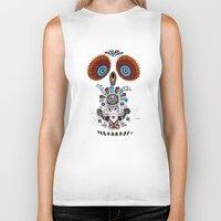 mexican Biker Tanks featuring Mexican Owl by Msimioni