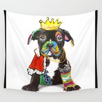 """prince Wall Tapestries featuring Prince """"Dog"""" by zAcheR-fineT"""