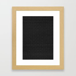 black pattern Framed Art Print