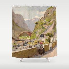 Vintage poster - Fernet-Branca Shower Curtain