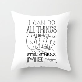 I Can Do Throw Pillow