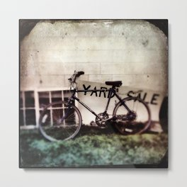 Yard Sale Bike Metal Print