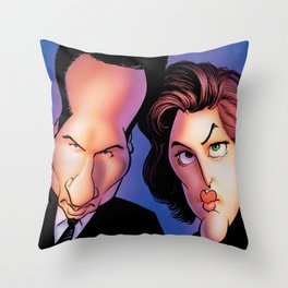 Files, Scully, Mulder,  Throw Pillow