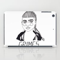 grimes iPad Cases featuring Grimes by ☿ cactei ☿