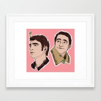 lee pace Framed Art Prints featuring Lee Pace by Niya Art