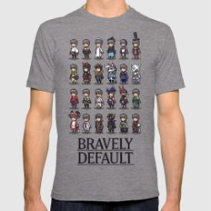 Bravely Default LARGE Tri-Grey Mens Fitted Tee