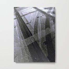 Tire Tracks Metal Print