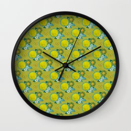 fresh green flowers Wall Clock