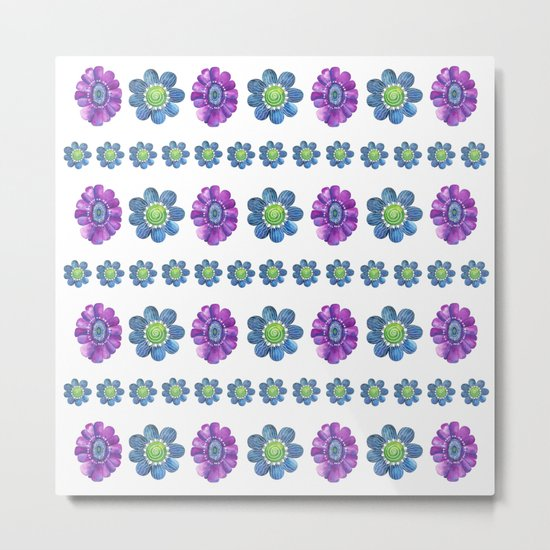 Blue and Purple Pattern Metal Print