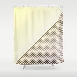 Heartless 2- Rainbow Sherbert + Brass Shower Curtain