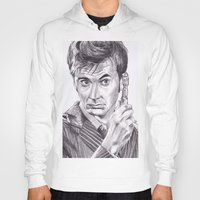 david tennant Hoodies featuring David Tennant as Doctor Who by Kate Murray