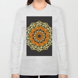 Kaleidoscope of butterflies and flowers Long Sleeve T-shirt