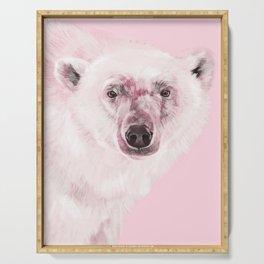 Polar Bear in Pink Serving Tray