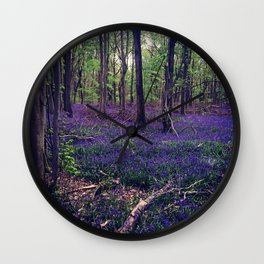 Bluebell Forest Wall Clock