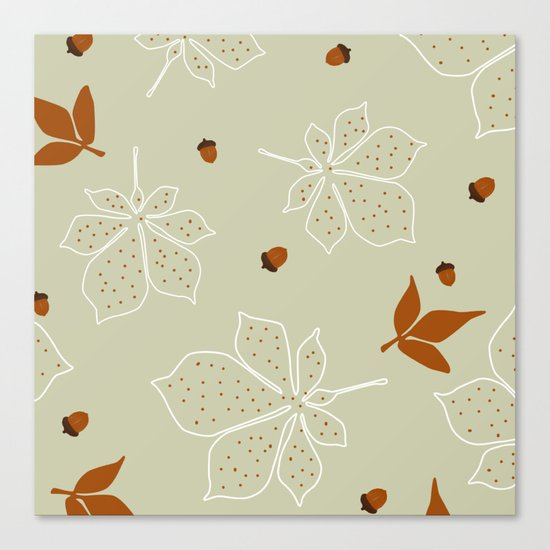 Autumn Leaves Pattern Canvas Print