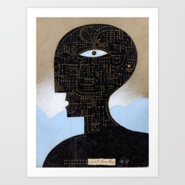 black head Art Print