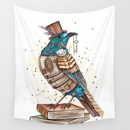 Steampunked Tui Wall Tapestry