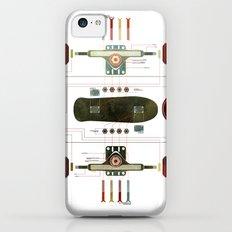 The Anatomy of a Skateboard iPhone 5c Slim Case