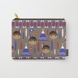 Seamless kids cute American indian native retro background pattern Carry-All Pouch