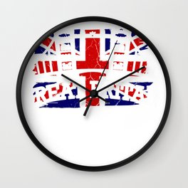 Great Britain London England Gift Kingdom Wall Clock